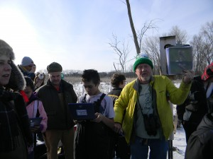 Warner Park's first American Kestrel nest is attached to a tree on the marsh island 2/20/13 by Tim Nelson of Wild Warner, Paul Noeldner of Madison Audubon and the Nature Explorers from Sherman Middle School and UW Madison. For more on their bird nest work, click on our blog