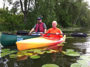 Tracy Hames, executive director of the Wisconsin Wetlands Association, toured Warner Park's wetland June 29 with Tim Nelson, president of Wild Warner.