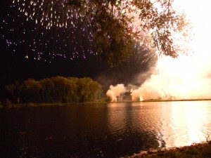 "Rhythm & Booms fireworks in 2010 launched from the wetland ""shooting island"" into Warner Park polluted the water and plants with chemicals and debris. (Jim Carrier)"