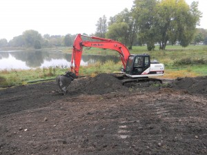 Crews from the Madison Parks Department worked for two weeks to excavate the hill, and haul it to Cherokee Marsh.